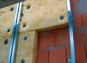 Монтаж базальтового утеплителя на фасад